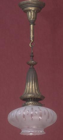 #C012204-C - sold! Refined Edwardian Pendant. ... & antique lighting