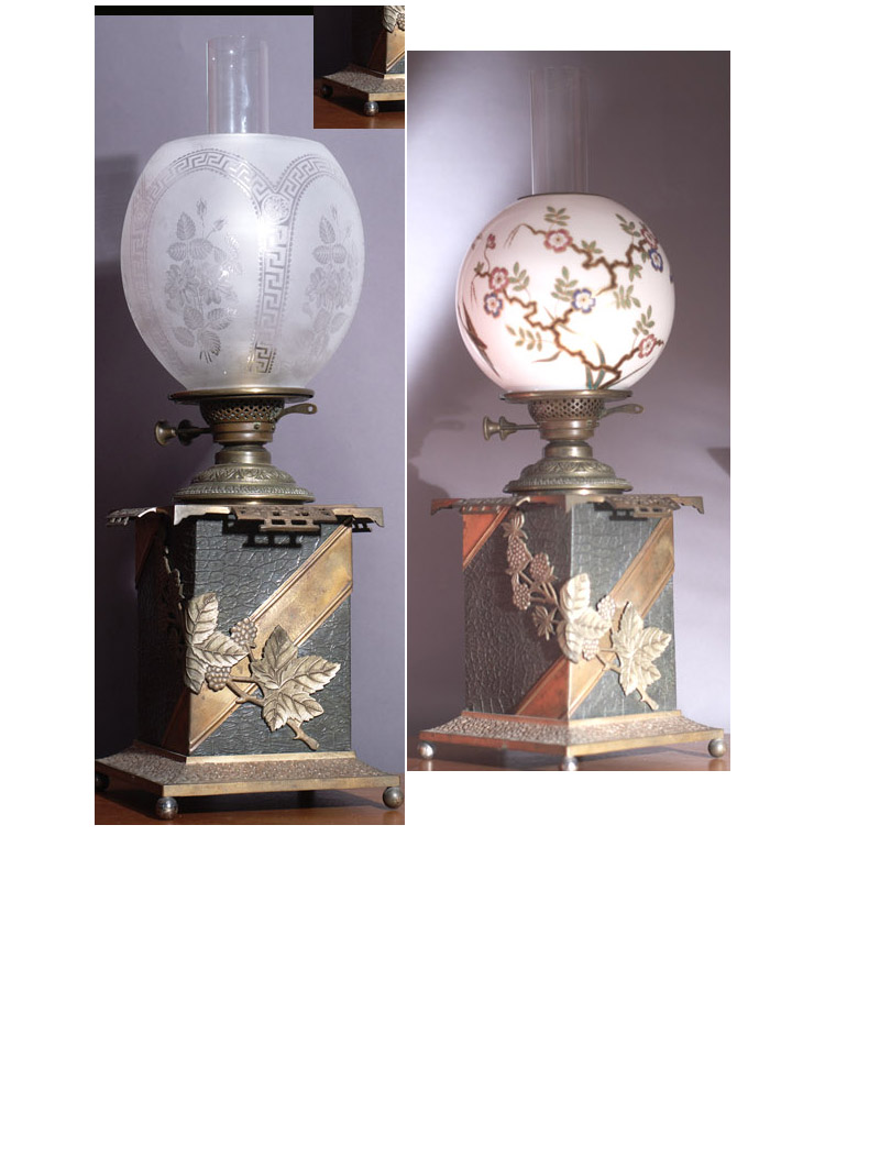 Antique Lamp Lighting REPLACEMENT SHADES FOR ANTIQUE LAMP
